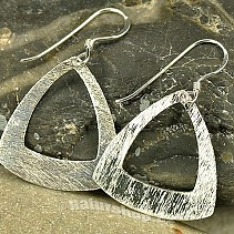 Earrings made of silver hammered triangles Ag 925/1000