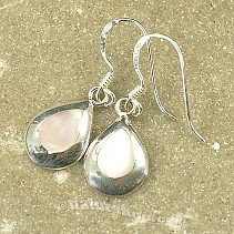 Silver earrings with white pearl drops Ag 925/1000
