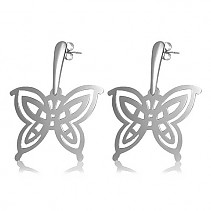 Surgical steel earrings butterflies 45 mm