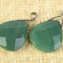 Aventurine pendant drop facet Bižu trim