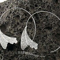 Collection Botanic silver earrings 925/1000 ginko