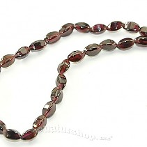 Garnet necklace square beans