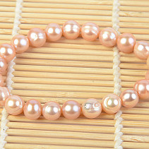 Bracelet large salmon pearls approx 11 mm