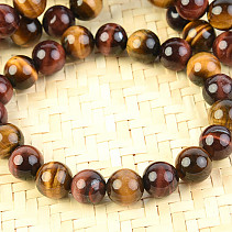 Tiger, bull and the falcon eye beads bracelet 10 mm