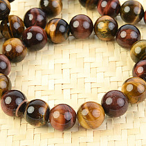 Tiger, bull and the falcon eye beads bracelet 12 mm