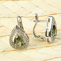 Luxury earrings with stones Ag 925/1000 drops