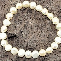 Bracelet large white pearls approx 9 mm