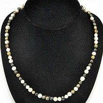 Pearls necklace round mix 52 cm