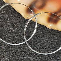 Earrings circles extra 925/1000 45 mm