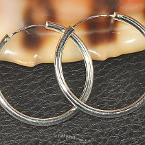 Rings earrings silver 925/1000 40 mm