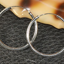 Rings earrings silver 925/1000 30 mm
