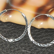 Silver rings decorated with 925/1000 25 mm