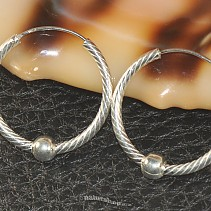Silver rings with ball Ag 925/1000 25 mm