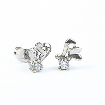 Stainless steel earrings with zircon REB030