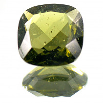 Moldavite 9 mm square cut 2,045 ct