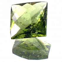 Moldavite 8 mm square cut 2.25 ct