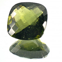 Moldavite 11 mm square cut 4.39 ct