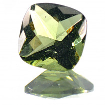 Moldavite cut square 8x8mm 1.65 ct