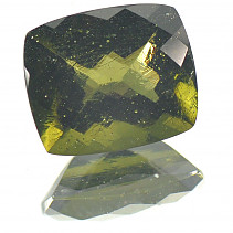 Moldavite cut rectangle 12x10mm 4.51 ct