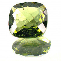 Moldavite 9 mm square cut 2,278 ct