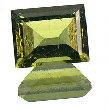 Moldavite cut rectangle 10x8mm 3.03 ct