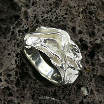 Botanic Collection: silver ring 925/1000 wave