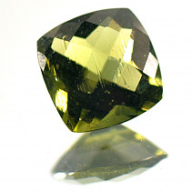 Moldavite cut square 8x8mm 1.69 ct