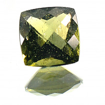 Moldavite 8x8mm square cut 1,737 ct