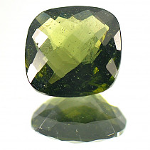 Moldavite 11 mm square cut 4.09 ct