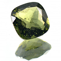 Moldavite 8 mm square cut 1,768 ct