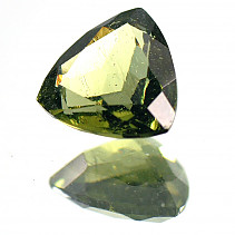 Moldavite trine cut 9x9mm 1.64 ct