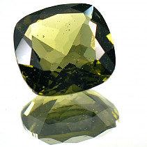 Moldavite cut square 10x10mm 3,045 ct