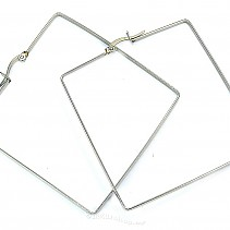 Earrings Stainless steel square steel 50 mm