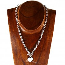 Ladies silver chain with a pendant Ag 925/1000 45 cm