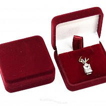 Burgundy velvet gift box mini