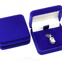 Blue velvet gift box mini