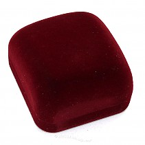 Burgundy velvet gift box for earring
