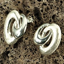 Botanic Collection earrings silver Ag 925/1000 ellipse