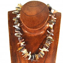 Agate necklace 43 cm rods