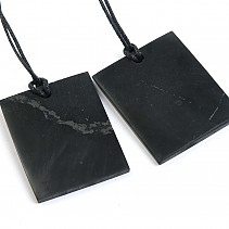 Shungites rectangle pendant on a string