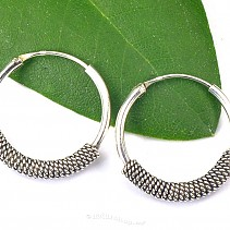 Earrings decorated with silver Ag 925/1000 20 mm
