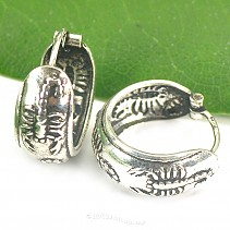Rings earrings decorated with 15 mm thick Ag 925/1000