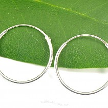 Circles earrings silver Ag 925/1000 20 mm