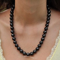 Shungites necklace beads 12 mm 52 cm