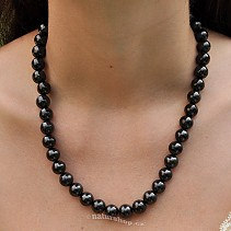 Shungites necklace beads 10 mm 46 cm