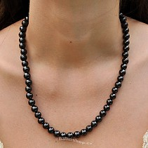 Shungites necklace beads 8 mm 50 cm