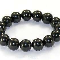 Shungites bracelet beads 12 mm