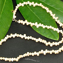 Pearls necklace cream drops 45 cm