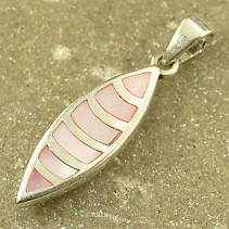 Pendant with pink pearl drop silver Ag 925/1000