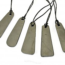 Shungites drop pendant on a string